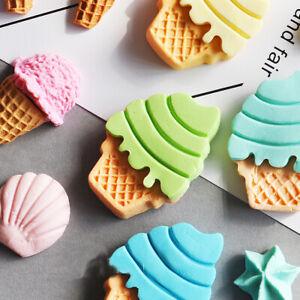 Ice Cream Silicone Mould Cake Sugarcraft Fondant Decor Chocolate Baking DIY Mold