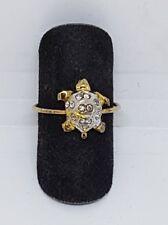 Anello in argento dorato e zirconi