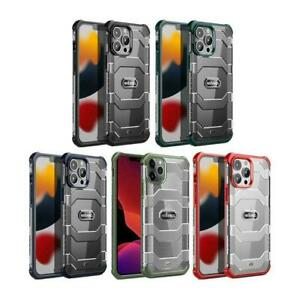 For iPhone 13 Pro Max Mini Luxury Shockproof Hybrid Cover x1 Leather Case T5L0