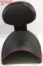 Odes Marder 850 - Sitz mit roter Ziernaht in rot - Sitz schwarz