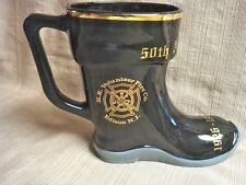 1976 BOOT STEIN 50th Anniversary Edison NJ FIRE DEPT - Oak Tree & HK Volunteers
