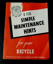 Vintage Wonder Wheels Hercules A Few Simple Maintenance Hints for your Bicycle