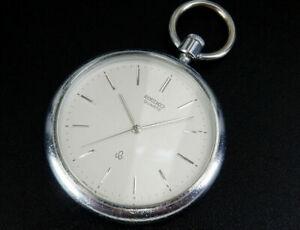 Vintage Seiko 1980 Quartz 40mm Pocket Watch simple Classic 7121