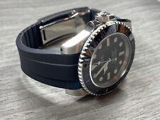 20mm BLACK Rubber Strap Band Rolex Watch Submariner 116610 16610 114060