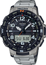 Casio Pro Trek Men's Quartz Bluetooth Connected Titanium 58mm Watch PRTB50T-7