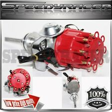 NEW RED Cap Ignition Distributor fit Dodge Chrysler Plymouth RB V8 413 426 PE342