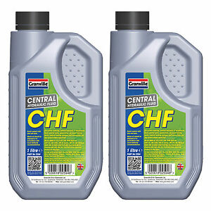 2 x Granville Central Hydraulic Fluid CHF 11S Power Steering Suspension Oil 2L