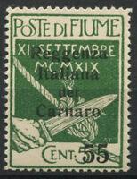 Fiume 1920 Sass. 142 Nuovo ** 100% Reggenza Italiana Soprastampato