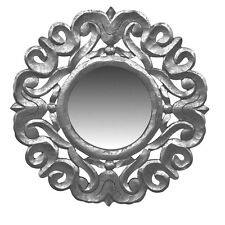 "Wall Mirror Wooden Frame Silver 24""- Decorative Wall Decor - Wall Mirror -Accent"