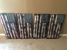 Handmade Wooden Flag, Red, White & Blue American Wood Flag,