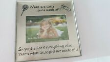 Metal Photo Frame, sugar and spice, boxed, new, 20cm x 20, fit 1 6x4 photo