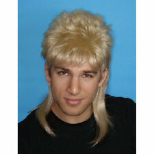 Mullet Wig Blonde Hair 70's 80's Bogan Men's Fancy Dress Costume Wig