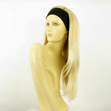 Perruque avec bandeau blond doré méché blond très clair ref NIKITA en 24BT613