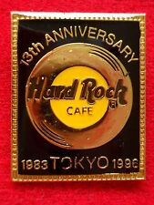 HRC Hard Rock Cafe Tokyo 13th Anniversary Black Rectangle Gold Record LE