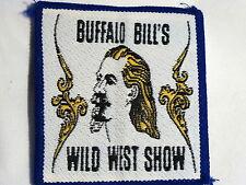 "Badge Ecusson Tissu Cousu ""Buffalo Bill's Wild West Show"" Années 1970"