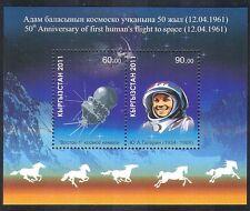 Kirguistán Yuri Gagarin 2011// vuelo espacial Vostok/Caballos/transporte 2v m/s n37876