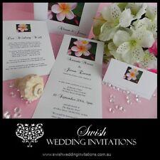 Pink Frangipani Wedding Invitations & Stationery - Samples Invites ONLY $1