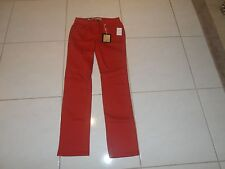 WOMEN'S SIZE 2 EARL JEAN ORANGE/RUST COLOR STRAIGHT LEG NEW