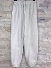 Vintage Nike 80s Blue Tag Pure White Warm Up Sweatpants Mens Size Medium M Soft