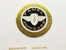 1 x Zündapp FAMEL Tankemblem 64mm 517-20.142 GTS KS 50 Super Sport 515 517