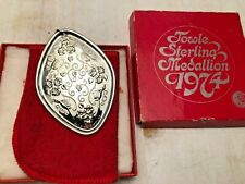 1974 Towle Sterling 12 Days of Christmas Medallion, 4 Calling Birds, w/ Box