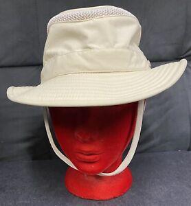 Tilley Endurables LTM5 Airflo Mesh Hat Beige Unisex Adult Size 7 5/8 -Excellent