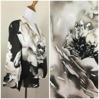 Lafayette 148 New York Womens M Petite/Small MultiColor Silk Open Blazer Jacket
