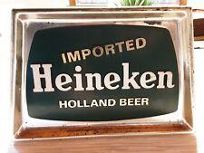 Vintage Imported Heineken Beer Plastic Wall Sign Van Munching Ny from 1969