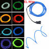 1/2/3/4/5m Flexible Neon Light Glow Motion Chasing EL Wire - W/3v/12v Controller