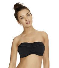 Freya Lycra Bandeau Patternless Swimwear for Women