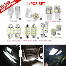 14x LED Interior Package Kit For T10 36mm Map Dome License Plate Lights White