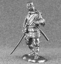 Metal Toy Soldiers Japanese Ninja Samurai Tin Sculpture 1/32 Figures 54mm