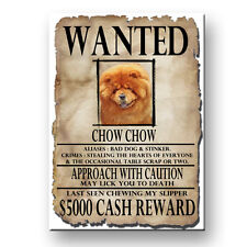 CHOW CHOW Wanted Poster FRIDGE MAGNET New DOG