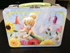 TINKER BELL Peter Pan Disney Fairy Kids Metal Tin Lunch Box Storage Carry All