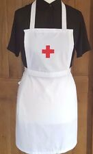 GIRLS  NURSE FANCY DRESS RED CROSS FULL APRON Victorian Edwardian WW1