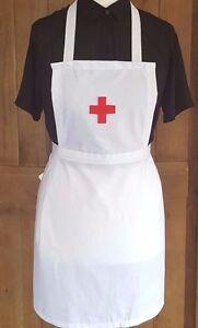 GIRLS  NURSE FANCY DRESS RED CROSS FULL APRON Victorian Edwardian WW1
