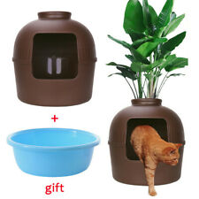Multifunctional Cat Litter Box Kitty Hidden Decorative Clay Pot Furniture Safe