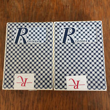 Lot 2 Nevada One Playing Cards - RIVIERA Used Cut Corner Deck ~ VINTAGE VEGAS