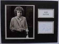 LEO SAYER - 70'S/80'S SINGER/SONGWRITER - SIGNED DISPLAY - SIGNING DETAILS COA