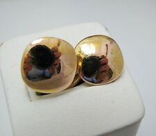 b023 Vintage Square Cuff Links in Polished 14k Yellow Gold