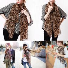COOL Leopardo Chal Gasa Sedoso Caliente Largo Pañuelo Bufandas Moda Atractivo