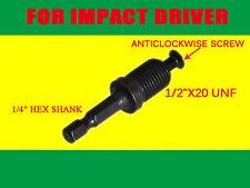 "DRILL CHUCK 1/4"" Hex ADAPTER & SCREW For Makita Bosch Ryobi Dewalt Impact Driver"