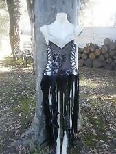 ZOMBIE FLESH Witchy Spooky Doll Tattered Ragged Hem Corset Dress Gothic 12 14