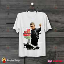 Steve McQueen Bullitt Thriller 60s Film Movie Cool Poster Unisex T Shirt B332