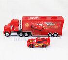 Disney Pixar NO.95 Cars1 Metal McQueen & MACK Mack Hauler Truck Toy Car Set Toy