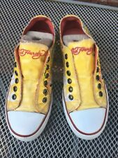 Rare Women's Ed Hardy Slip On Yellow Koi Fish Fashion Shoes, women's Size 5