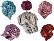 (LOT OF 24X) SEQUIN Bling Hats Shiny Diva Fashion Party Newsboy Cabbie Cap