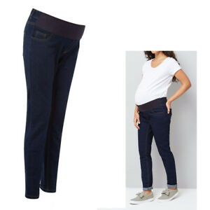 Maternity New Look Under Bump Jeans Dark Blue Skinny Pregnancy Denims Sizes 8-18
