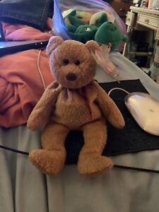 Ty Beanie Babies Curly The Bear Plush