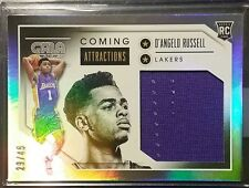 2015-16 Panini Gala D'ANGELO RUSSELL Coming Attractions  Jumbo Relic RC /45 #19